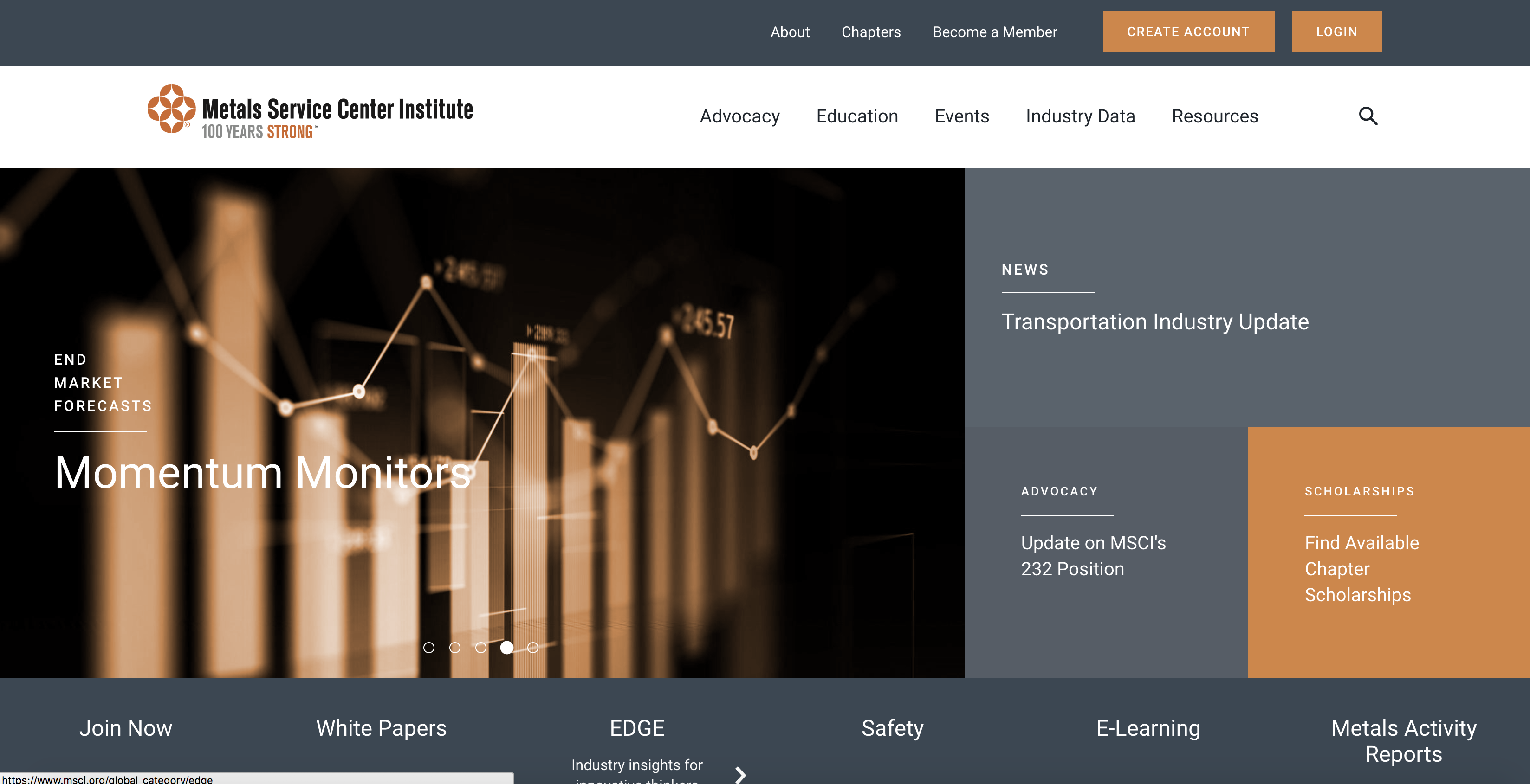 MSCI Website Screenshot